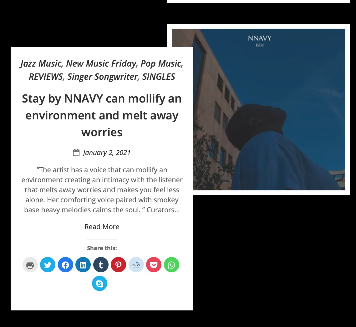 Stay by NNAVY can mollify an environment and melt away worries  via @indiemusicspin #newmusicalert #SaturdayMorning