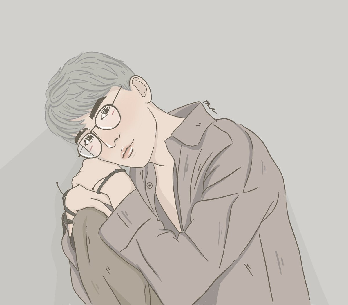 Replying to @mikml_: 🤓🤓  #MewSuppasit #MewingGulfy  #mikmlxfanart