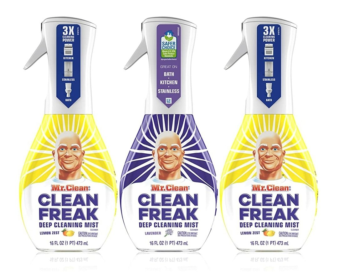 Mr. Clean, Clean Freak Deep Cleaning Mist 3 Pack Bundle Only $14.99    #Deals #cleaning #cleaners  #Amazon #NaughtiasDeals #bargains #SaturdayMorning