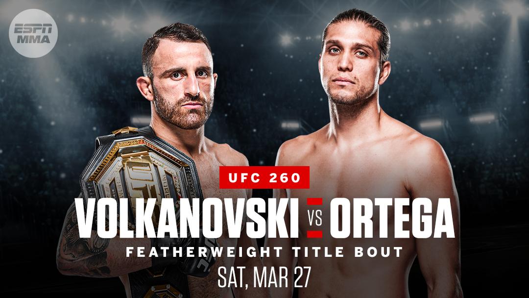 Alex Volkanovski will put his featherweight title on line against Brian Ortega on March 27, sources told @arielhelwani. https://t.co/B48KSoPnFQ