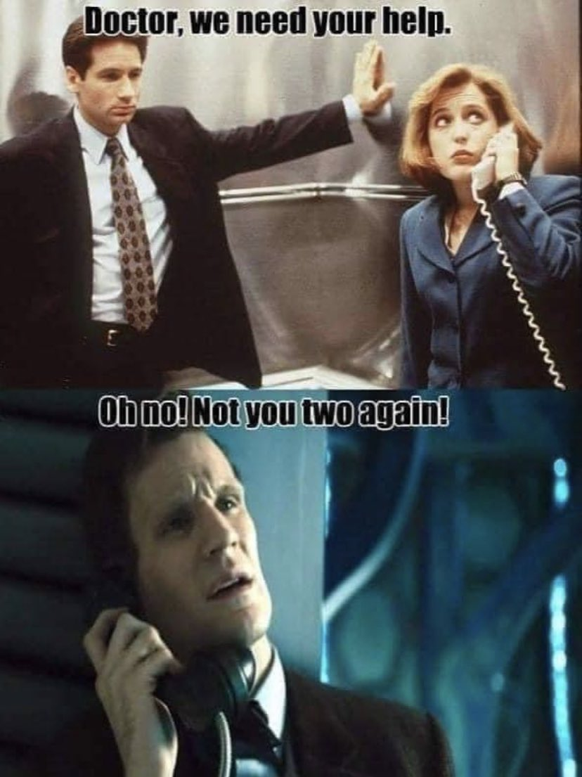 Yes to this #XFiles #doctorwho #DoctorWhoLockdown #scifi #SaturdayMorning