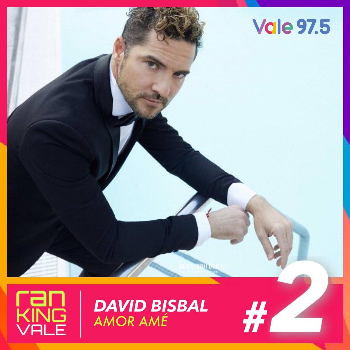 PUESTO #2 | ¡Con 18 semanas de permanencia, se mantiene firme! Misma posición para @davidbisbal con #AmorAme en el #RankingVale! 💕🎶