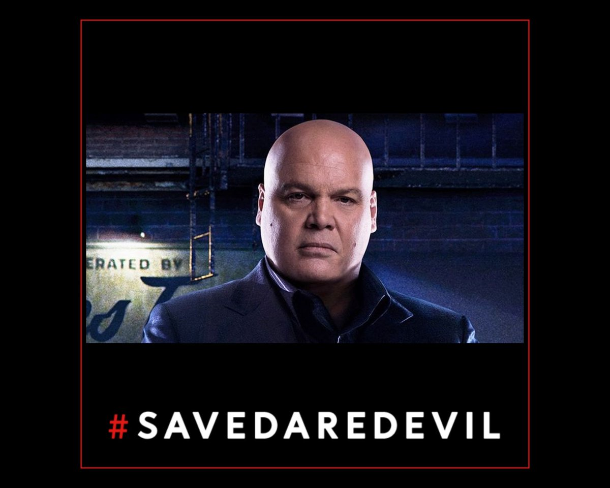 """Look, I really hope that the rumors about #CharlieCox returning as Matt Murdock/Daredevil in Spider-man 3 are real.  But even if they are, #SaveDaredevil doesn't mean """"Get the lead actor a small cameo in someone else's PG-13 film.""""  It means """"Revive the show with the ENTIRE cast"""""""