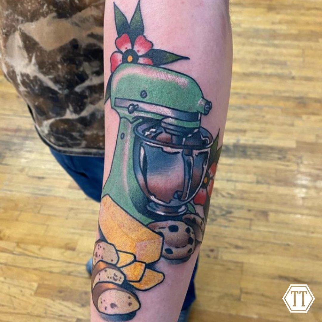 This is awesome! 🍪  Follow @joshuaheckerttattoos on Instagram 📸 • • • • • • #tattooinspiration #tymeless #tymelesstattoo #tattoo #tattoos #tattooed #ink #inked #coloredtattoos #syracuse #bville #baldwinsville #upstateny #cny #oswego #newyork #sleeve