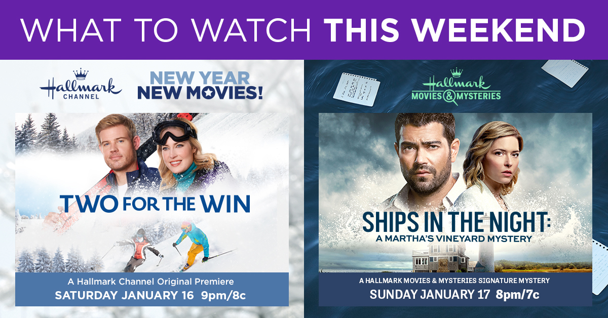 From the slopes to the ships, this weekend's lineup is one packed with adventure. What are you most excited to watch with us? Let us know in the replies!  #TwoForTheWin: TONIGHT at 9pm/8c Ships in the Night: A #MarthasVineyardMystery: Tomorrow at 8pm/7c.