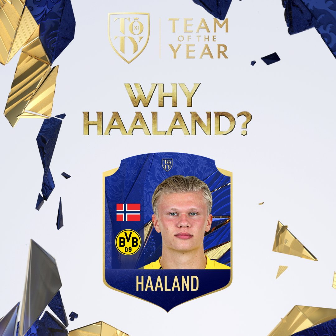 🧘 Unbelievable record-breaking form. But does @ErlingHaaland make your #TOTY? Vote now. Just 2️⃣ days left!   #FIFA21 #FUT