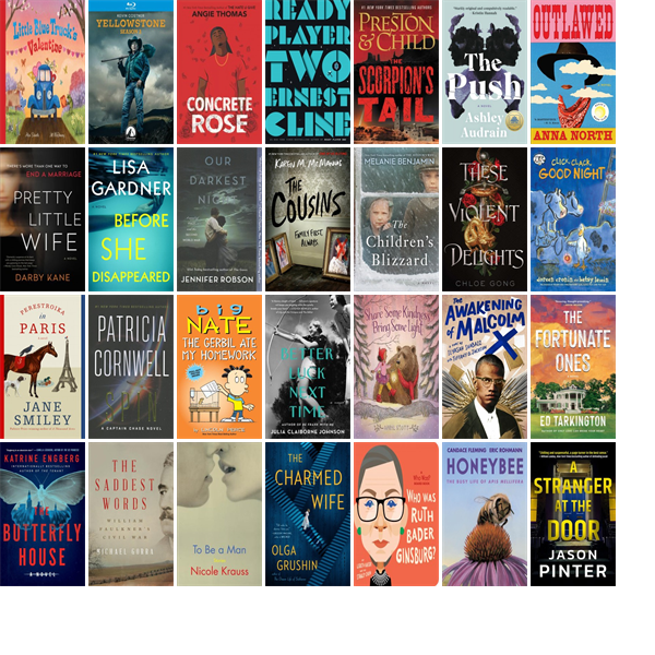 This week the Emily Williston Memorial Library has 67 new books and one new movie.  New items include Little Blue Truck's Valentine, Yellowstone, Concrete Rose, Ready Player Two, The Scorpion's Tail ), The Push, Outlawed, and Pretty Little Wife. https://t.co/Z9ZmsE4K1B https://t.co/SkDRgMstEr