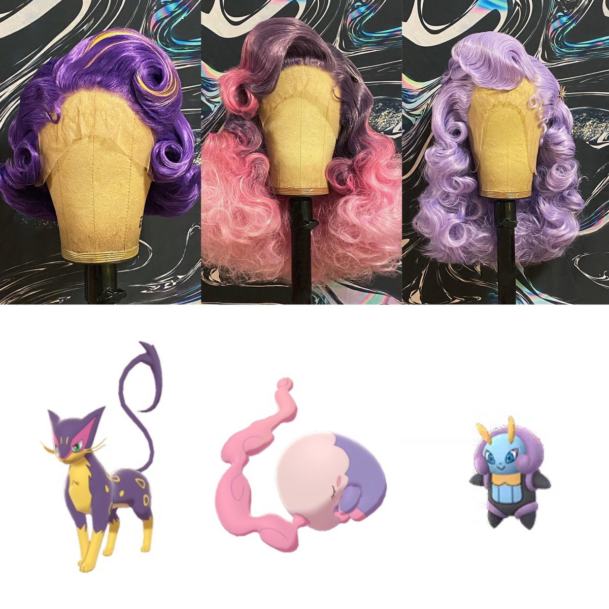 I saw that #katyperryxpokemon was trending ... so i made wigs based on some of the little glamour monsters