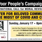 Imagen del comienzo del Tweet: Únase a la #PoorPeoplesCampaign el domingo,
