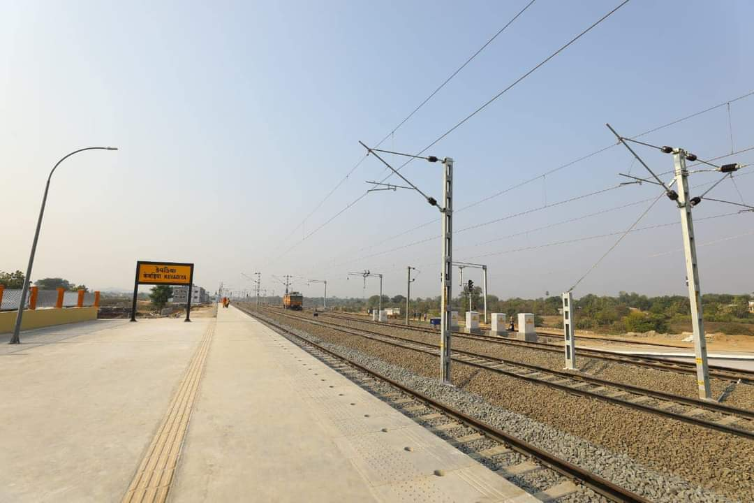 PM Modi inaugurates Kevadia railway station, launch 8 trains to Statue of Unity