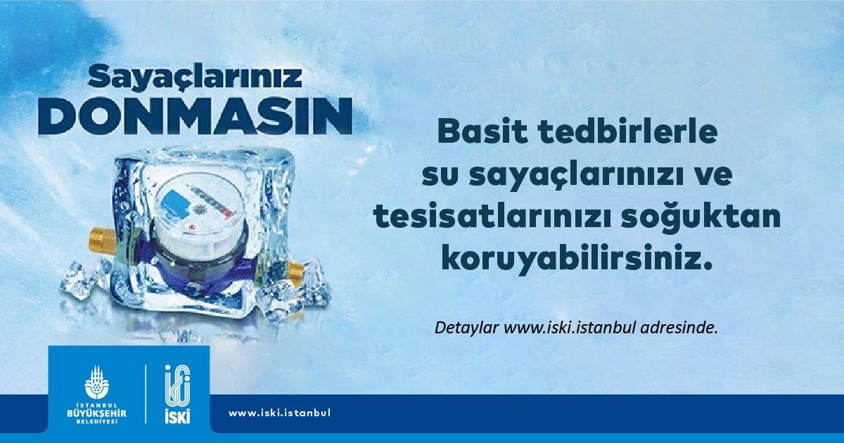 Saygıdeğer İstanbul Halkının Dikkatine 📢  Basit tedbirlerle su sayaçlarınızı ve tesisatlarınızı soğuktan koruyabilirsiniz.   Detaylar için👉🏻