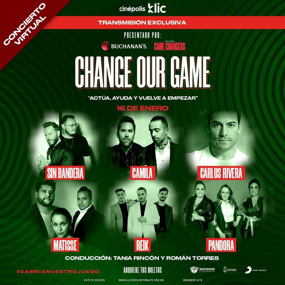 ¿A quién te emociona ver más en Change Our Game? 😲  ¡No te lo pierdas por Cinépolis Klic! 🍿  Aquiete tus boletos 👇🏽