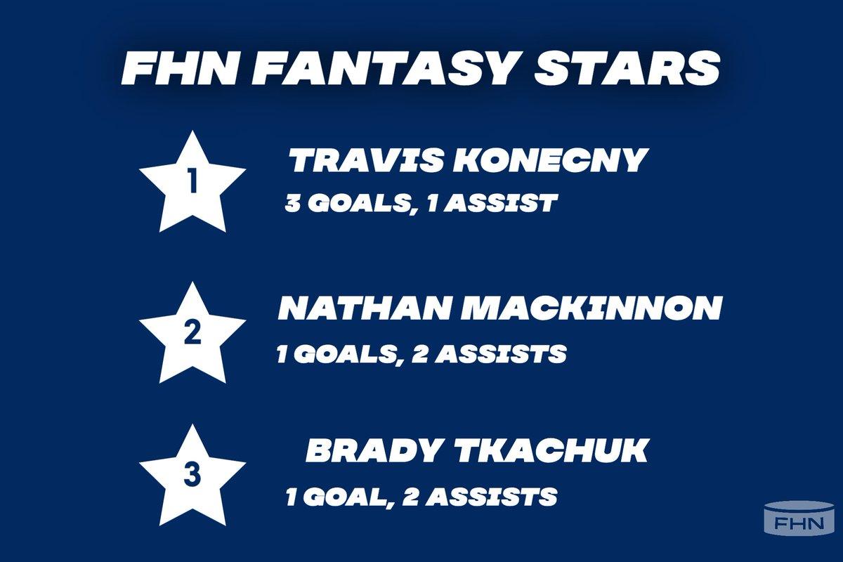 FHN's #fantasystars from last night... put some respect on Travis Konecny's name 💪💪  #NHL #NHLPicks #NHLStats #NHLFaceOff #HockeyIsBack #hockeypicks #fantasyhockey #fantasyhockeydraft