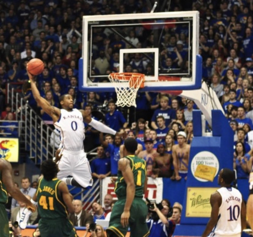 Eight years ago today: maybe the greatest dunk in Kansas basketball history https://t.co/ifgvZIddf4