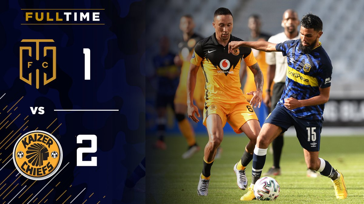 It ends in defeat at Cape Town Stadium.   The visitors hang on to claim all 3 points.    #DStvPrem