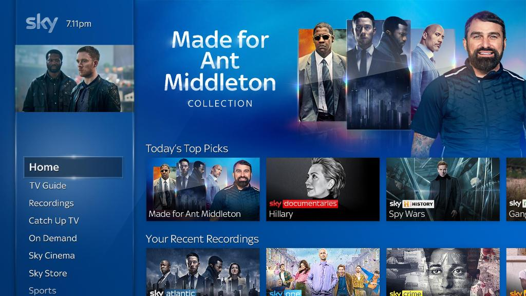 "Feel like you've seen everything on TV and looking for something new?  Say ""Made For Ant Middleton"" into your Sky Q voice remote to find all of Ant's favourites. #MySkyQ 😍📺🙌"