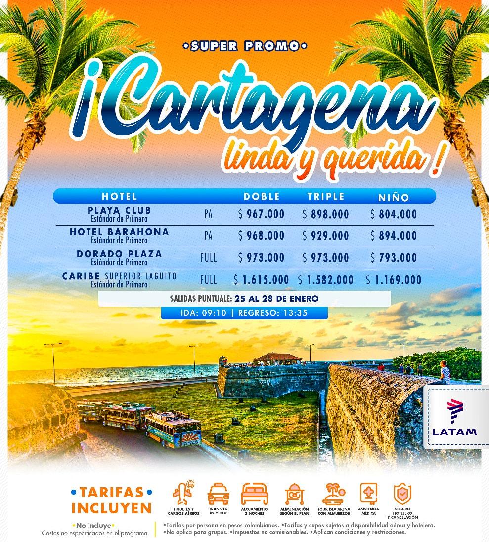 Aprovecha Cartagena salidas de enero últimos cupos.  #sanandres #sossanandresyprovidencia #ElTurismoEsLaClave #SeLevantaElTurismo