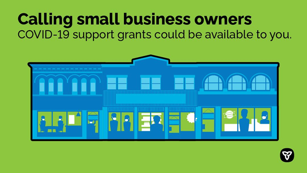 If your small business is affected by the Provincewide Shutdown, you could be eligible for the new Ontario Small Business Support Grant. Find out how to apply: Ontario.ca/COVIDsupport