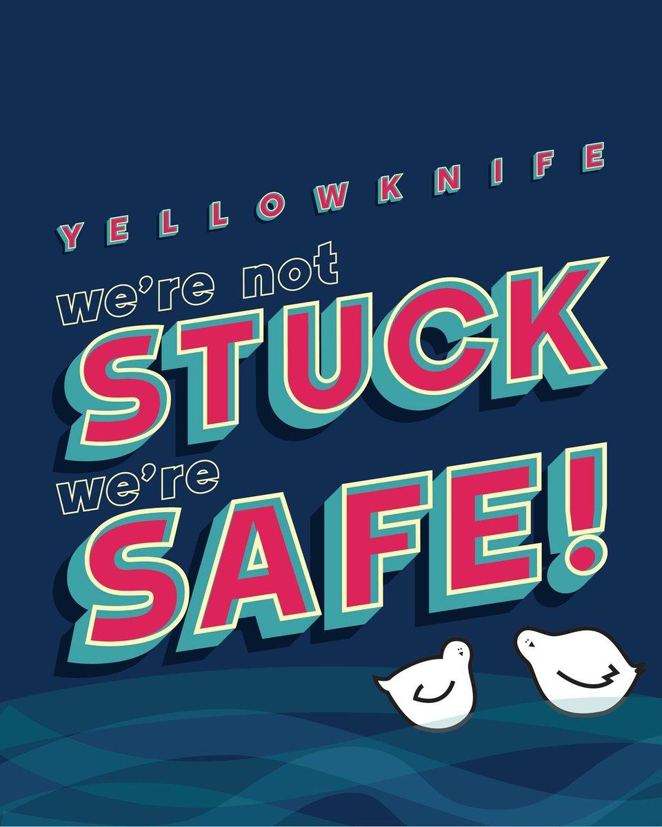 Safe not stuck   #Yellowknife #Gratitude #YZF