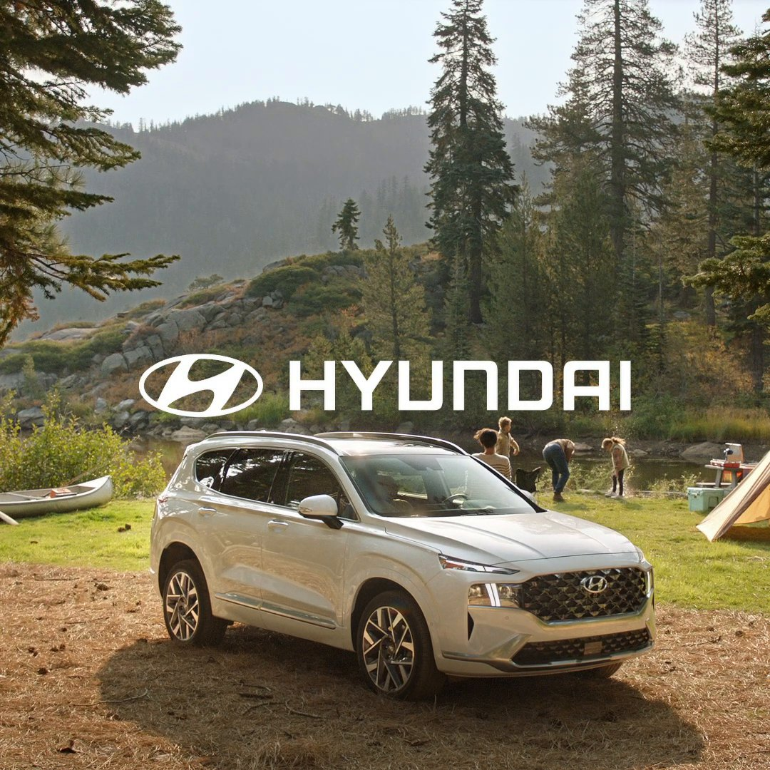 Introducing the newly redesigned #HyundaiSantaFe with User Profiles. Because family time is great, but a little bit of alone time is good too.  Preproduction model with optional features shown.