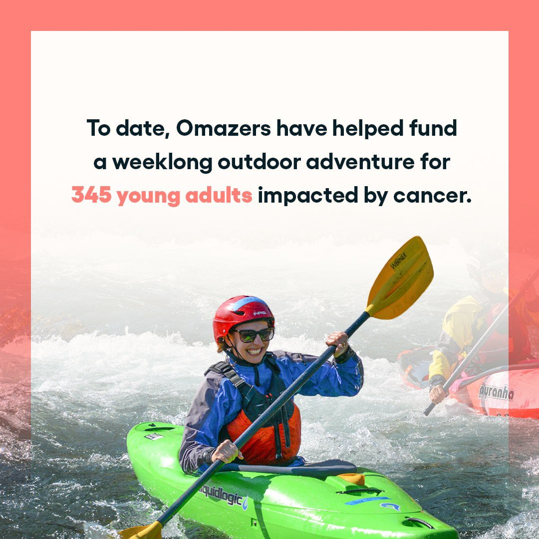 Two Omaze employees participated in @FirstDescents trips. Since then, you've helped raise enough funds to sponsor weeklong trips for 345 adults impacted by cancer! To support their wonderful work (& be in the running to win an Airstream Atlas), head here: