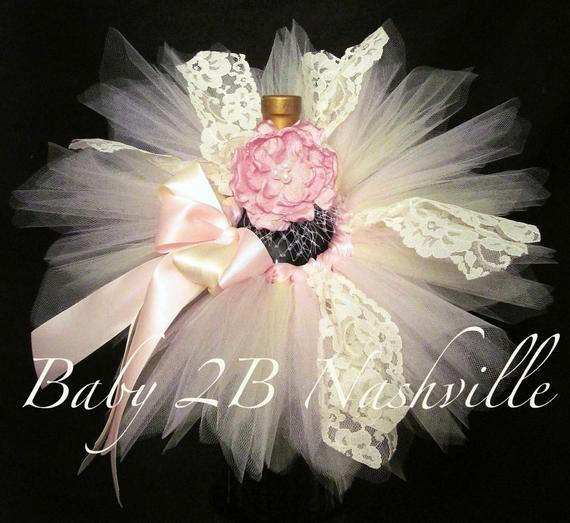 Lace Newborn Baby Tutu Set in Pink and Ivory  #clothing #girls'clothing #costumes #tutu #tutus #photoprop