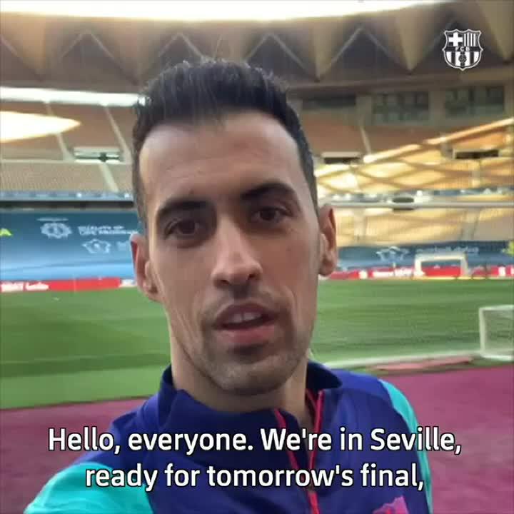 👉  👈 RT @FCBarcelona A special #SuperCopaBarça message from @5sergiob! 💙❤️