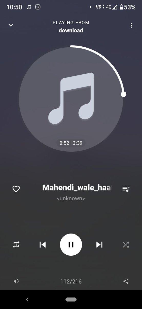Kuch nhi to aaj 45 tym chal rha h ye song #MehendiWaleHaath ❤️❤️❤️❤️  Bhot hi khoobsurat song h @GuruOfficial Paji 😘