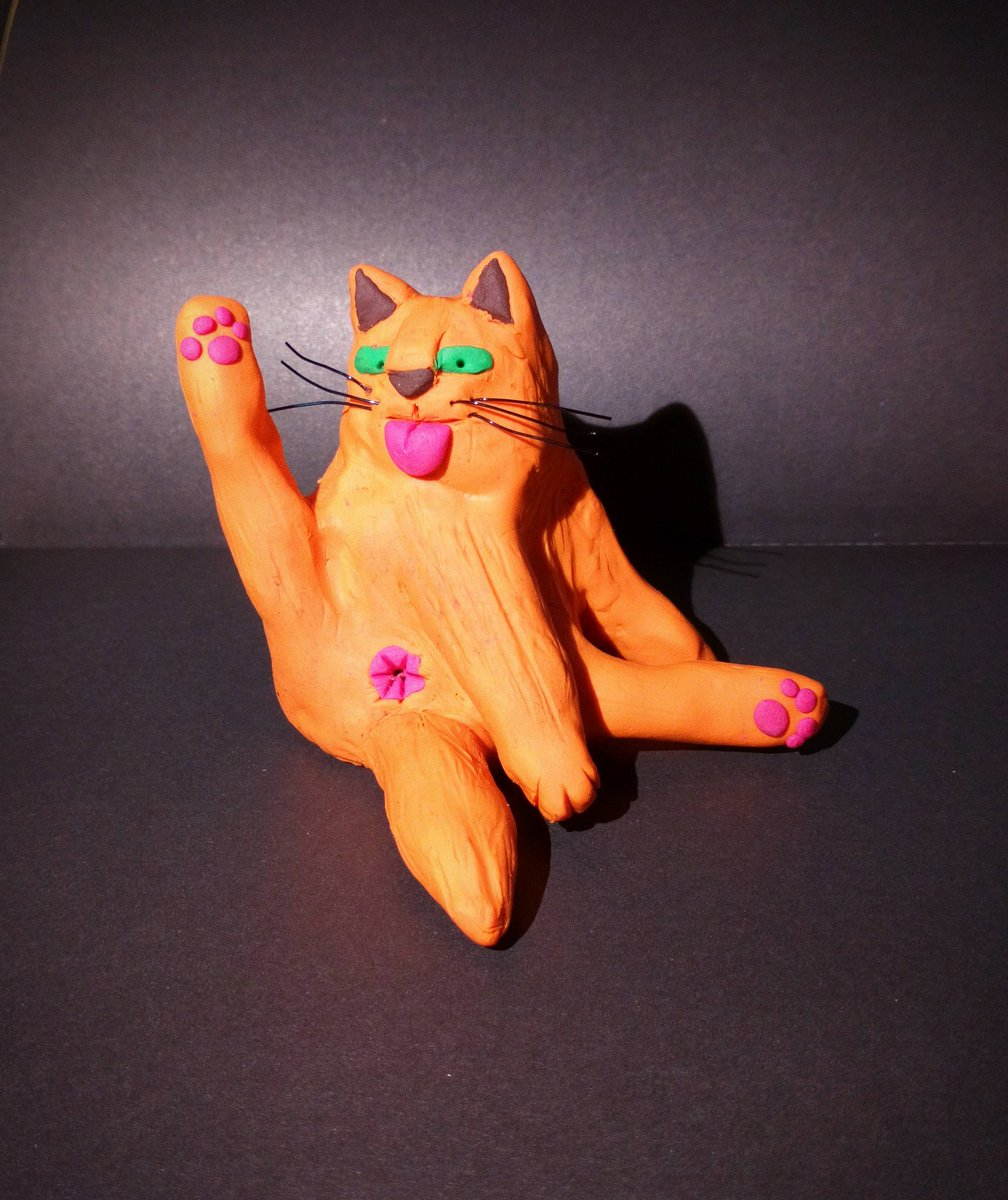 Self care Saturday #selfcare #Caturday #cats #funnycat #crafturday #craft #polymerclay