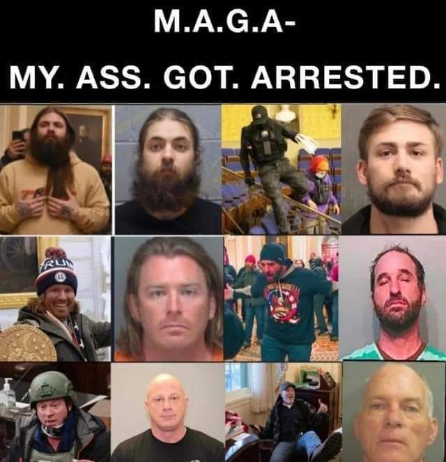 .BUSTED. #UnAmerican #NOTpatriots #FailedCoup #SeditionHasConsequences #shameful #MAGATerrorist