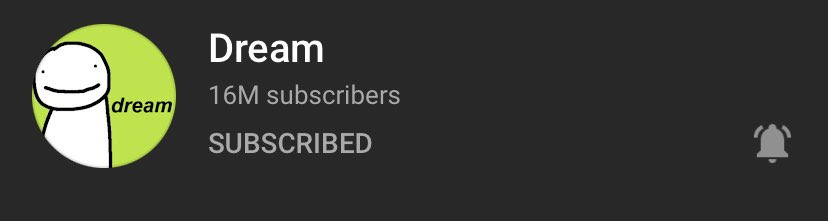 CONGRATS DREAM ON 16MILL!! You've have been a huge inspiration for me and your content always makes me laugh! Cant wait to see you grow even more