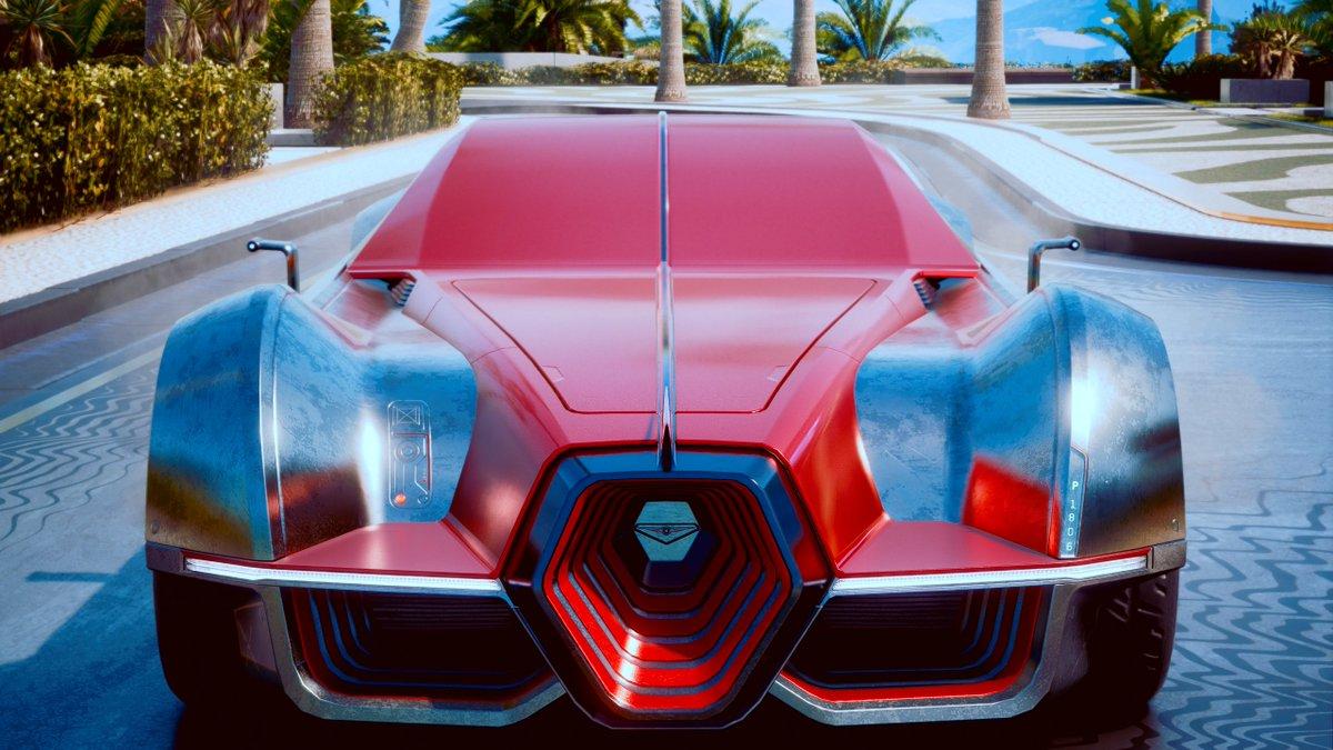 "Behold. Your Aerondight...           (Wait wrong game)  Rayfield ""Aerondight""  #Cyberpunk2077 #VGPUnite #PhotoMode #VirtualPhotography #Vehicles #Cars #NightCity #RTXon"