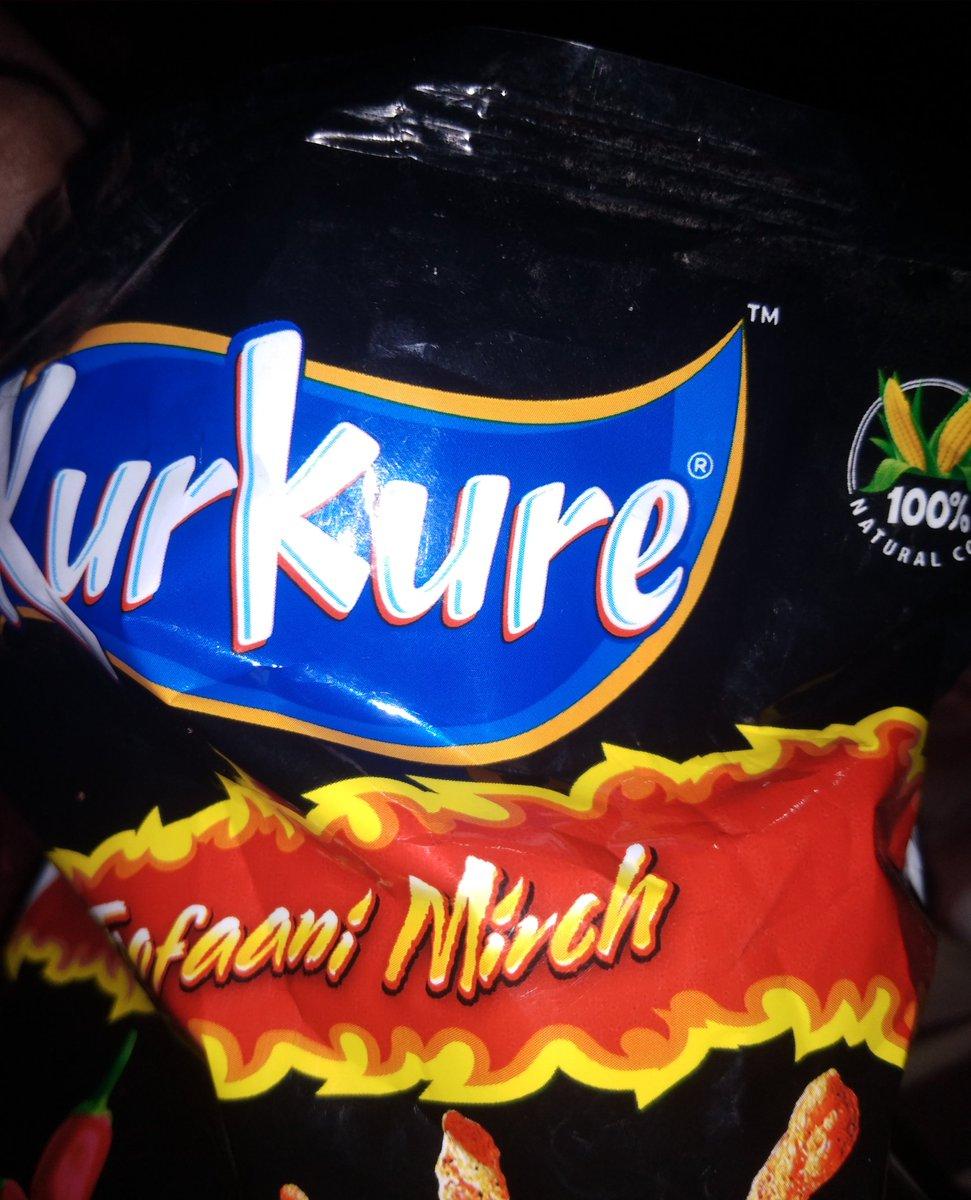 Do you ever try this #kurkure 🙃