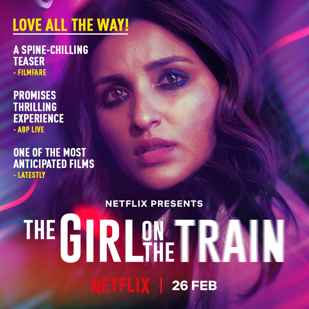 The excitement is sky high as the ride begins soon! #TGOTT premieres 26th Feb, only on Netflix.  @ParineetiChopra @aditiraohydari @IamKirtiKulhari @avinashtiw85 @tota_rc @SHAMAUN @ribhudasgupta @Shibasishsarkar @amblin @ZeeMusicCompany @NetflixIndia  #SDFilmyNews