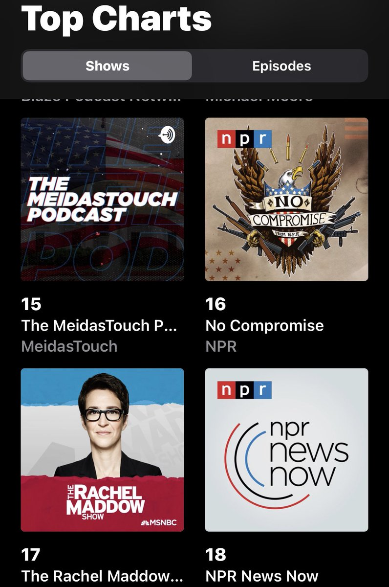 Replying to @meiselasb: The MeidasTouch Podcast is climbing the charts!