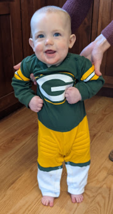 "@TheGPackers @packers @packeverywhere #GoPackGo Speaking of ""little Green Bay""...my youngest grandson is a proud Packer Backer!"