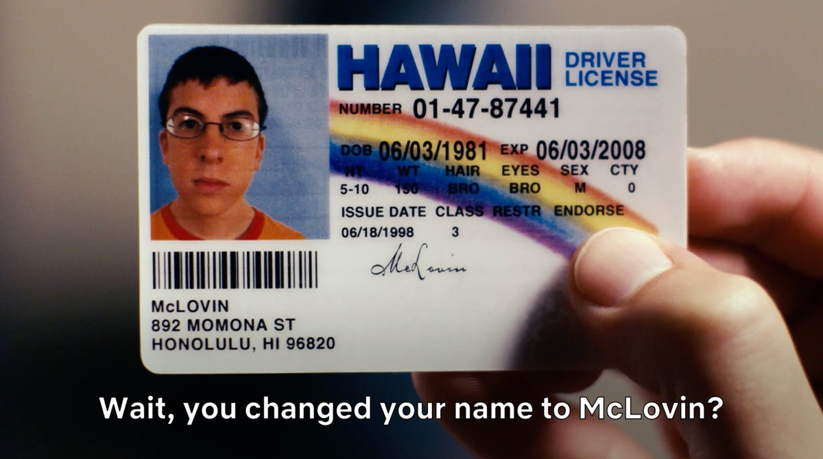 He is McLovin and Superbad is now on Netflix