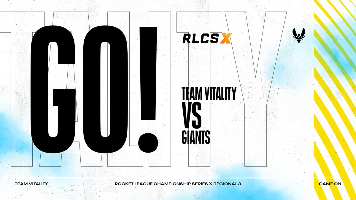 Team Vitality - Upper Quarter final match-up 💥⚽ The Rocket League squad is playing against @GiantsGamingENG 📣  💯