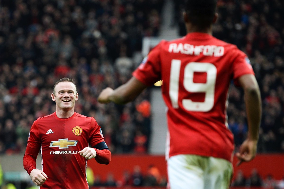"""""""When I was about eight years old my uncle gave me that @WayneRooney kit....  I was a striker, so from that day, I wanted to be just like Rooney. And I wanted to play for @England."""" —@MarcusRashford"""