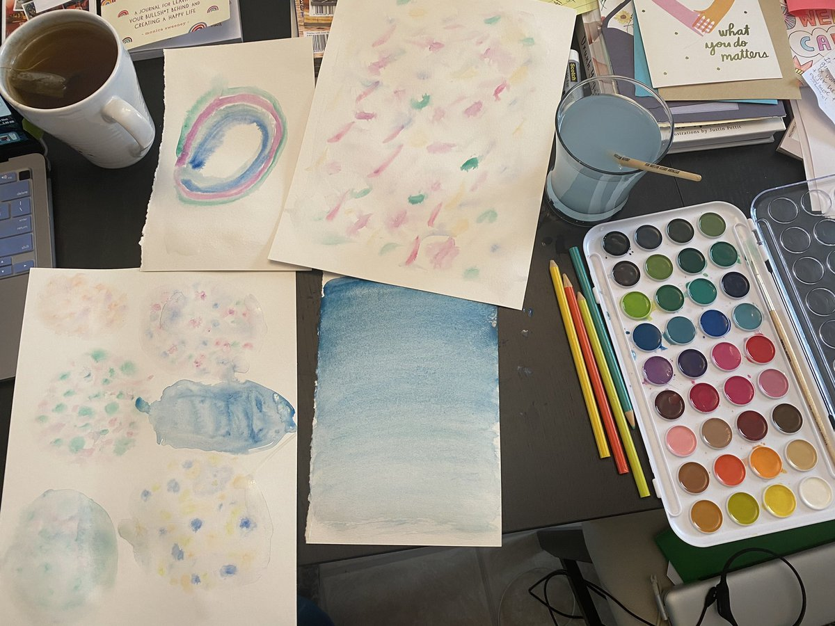 Such a fun and relaxing morning doing some watercolor painting with @creativemorning & #ColorSnack! My fave is the ombré painting technique! 🎨 #watercolorpainting #art #Creative #Mindfulness #meditation #SaturdayMorning #SaturdayVibes
