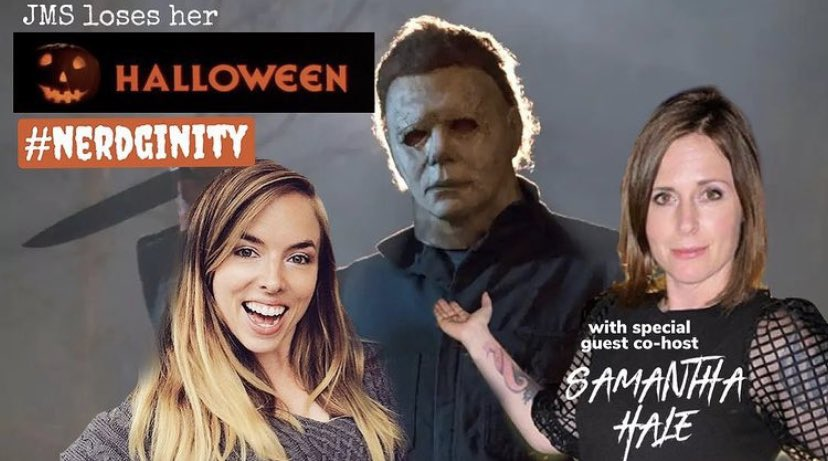 Happy Birthday to the brilliant John Carpenter!   We had so much fun recording our #Halloween episodes where @JMScomedy was scared to death alongside horror loving guest host @TheSamanthaHale 🖤
