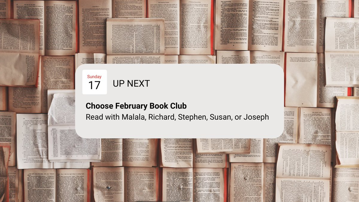 🗓 Don't forget! TOMORROW is the last day to sign up for February book clubs AND to switch clubs!