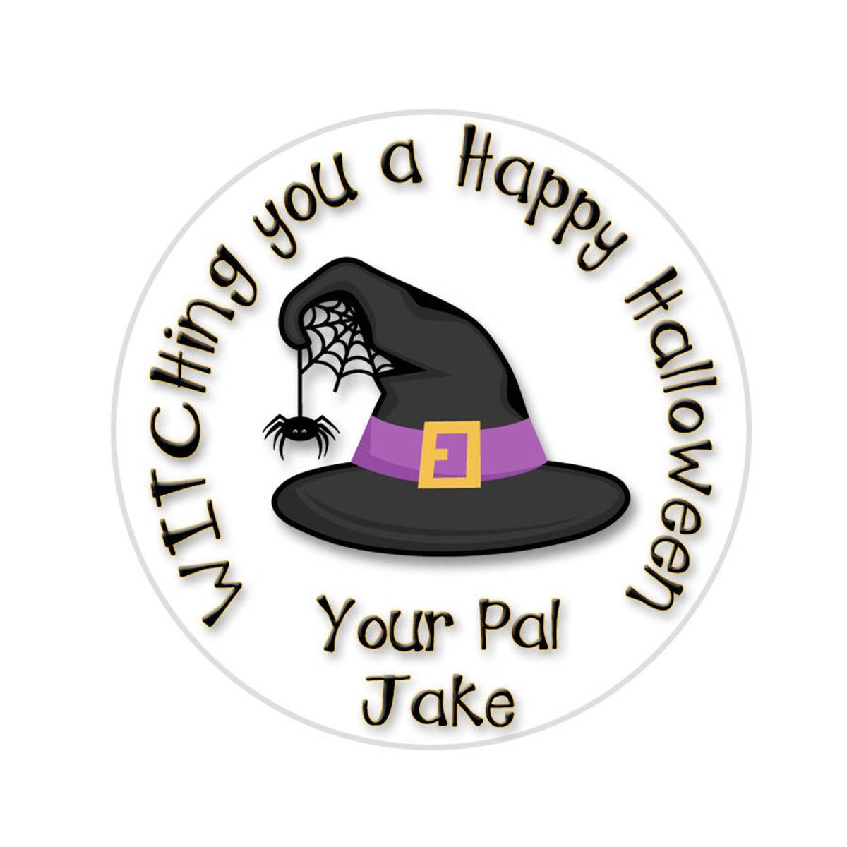 Halloween Stickers Witch Stickers Trick or Treat Sticker   Etsy   #witchstickers #Halloween stickers