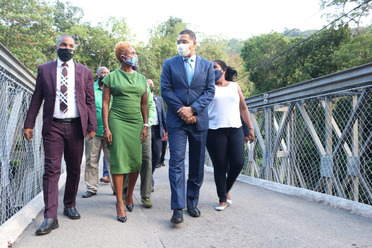 Last year at this time, I made site visits in Airy Castle. By June 2020 the @ksamcorp worked with the MP & Central Govt agencies to remove & replace the bridge, providing safer & greater access to several communities across West Rural St Andrew. #StillBelieving #FinishStrong