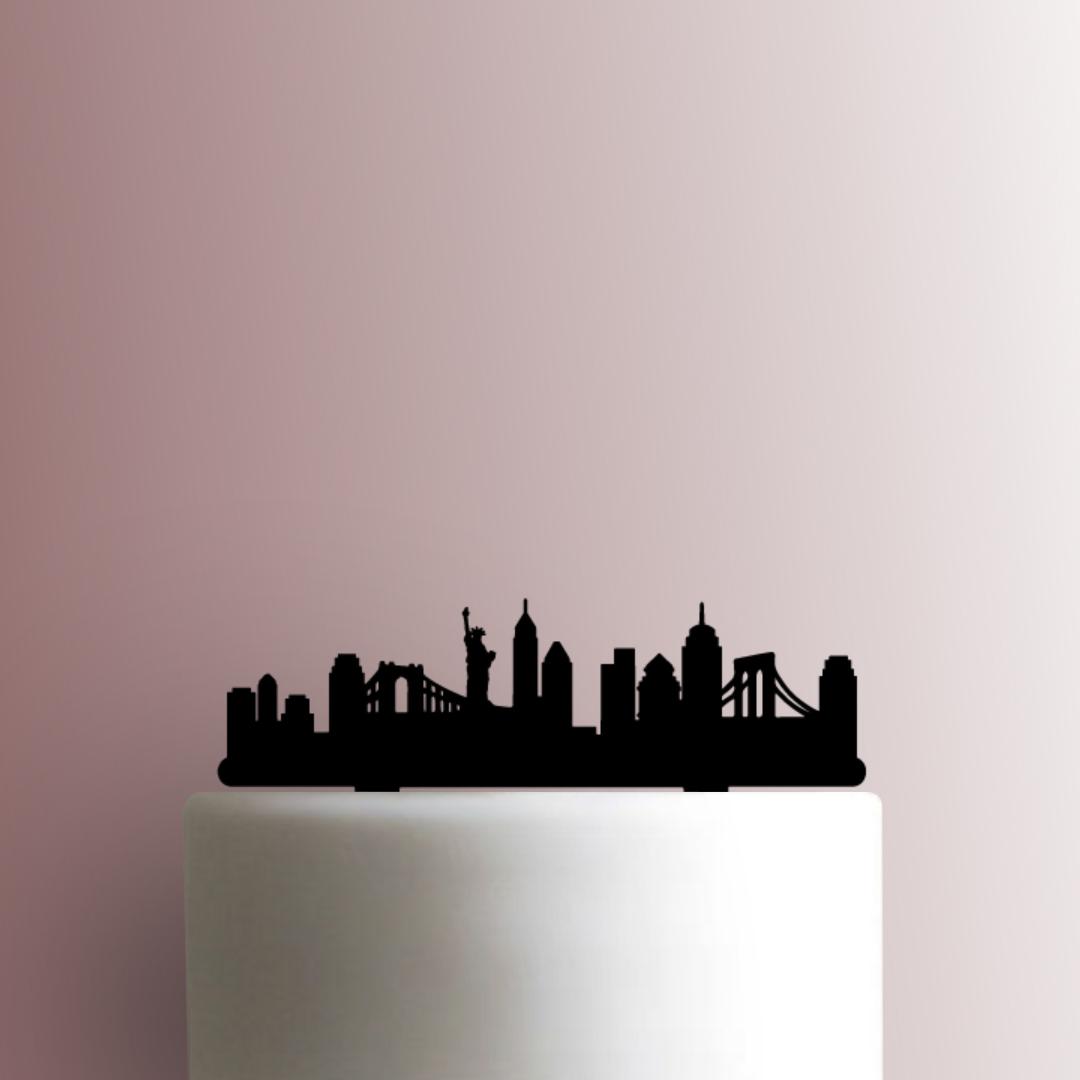 New York Skyline 225-A022 Cake Topper now available!  #baking #cake #pastry #dessert #diy #homemade #handmade #bakingsupplies #instadaily #instafood #igdaily #jbcutoutoflove #caketoppers #custom #newyork #Skyline #statueofliberty