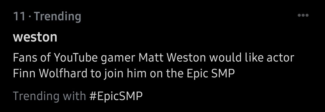 "Corpse breathing gets properly reported and then #EpicSMP gets ""Matt Weston"""