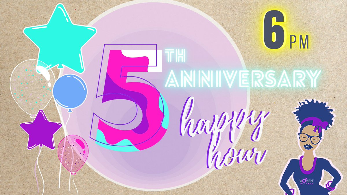 Join us tonight at 6pm EST for the kickoff of our 5th Anniversary!!!!!  #byob #partytime #wil #linux