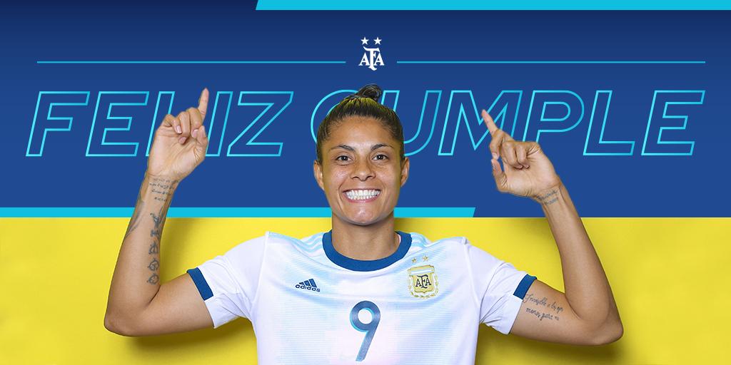 #SaludoAlbiceleste 🇦🇷 Soledad Jaimes, delantera de la Selección @Argentina, cumple 32 años. ¡Felicidades! 👏👏