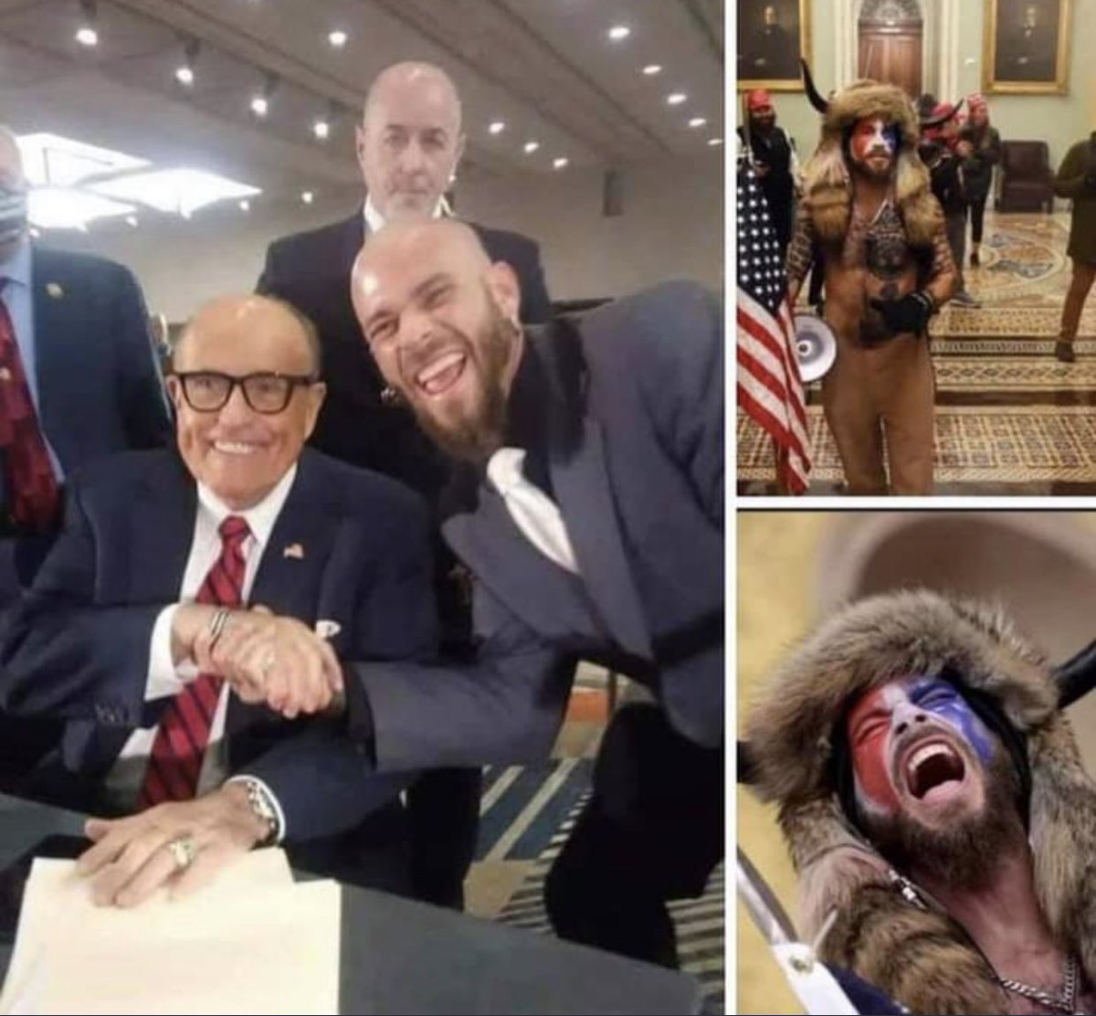 """Replying to @levparnas: """"Trial by combat"""" - Rudy Giuliani January 6, 2021  They say a picture is worth a thousand words. 👀"""