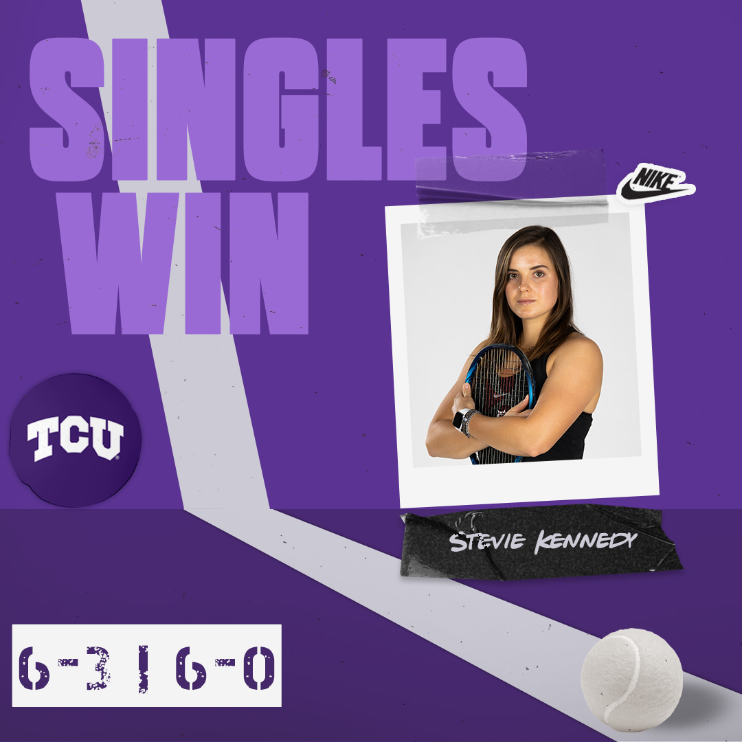 Stevie Kennedy gives the Frogs a 3-0 lead with her second singles win of the day!  #BuildBelief x #GoFrogs🐸🎾 https://t.co/IfunNefalv